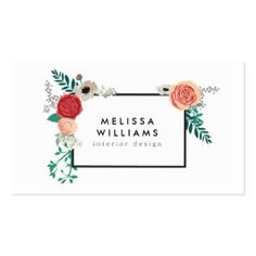 The gold floral design by 1201AM combines vintage elements with modern styling to create unique brand materials for your business or personal identity. Available to personalize on business cards, rack cards, stationery, letterhead, office supplies, craft supplies and more.