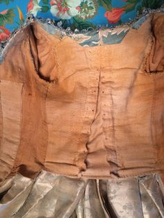 LOT 550 ROBE a la FRANCAISE, 18th C - whitakerauction back lacing bodice lining in various cottons