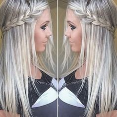 Beautiful Blonde Hair And Pretty Make up!