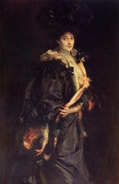 Portrait of Lady Sassoon, 1907 by John Singer Sargent. Realism. portrait. Private Collection