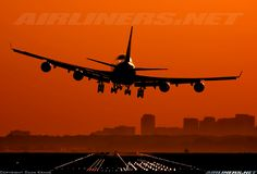Amazing colors - Boeing 747-406M landing in Schiphol