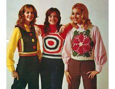 Vintage 70's crochet tops PATTERN. 3 pattern PDF by KnitHappensMTL