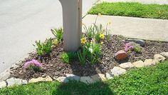 Flower Bed/Stone Border around Mailbox