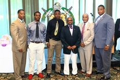 Omega Psi Phi Fraternity Presents Book Scholarships to Students of Paterson Eastside and Kennedy High Schools.