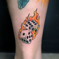 Old school dice piece by the Rain Man Fhon Small Tattoos, Tattoos For Guys, Tattoos For Women, Cool Tattoos, Rain Tattoo, Dice Tattoo, Tattoo Sketches, Tattoo Drawings, Tattoo Photos