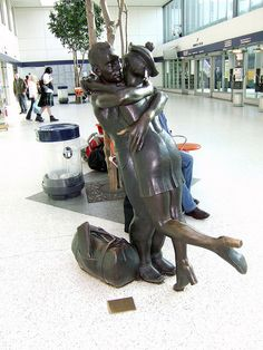 Glasgow, Scotland. Okay its the bus station statue... so perhaps more iconic. But its also a fine welcome to Glasgow.