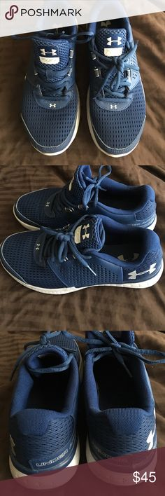 Under Armour Fuel training/running shoes These shoes are practically brand-new. My son wore them one time. You will be buying a practically brand-new pair of shoes. Under Armour Shoes Athletic Shoes