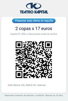 precio, entrada, reservados, lista, gratis, botellas, teatro, kapital, Madrid, código, bidi, qr, teléfono, relaciones, publicas, ofertas, como, llegar, horario,reservados Kapital,