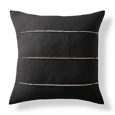 Onyx Triple Zip Outdoor Pillow by Porta Forma