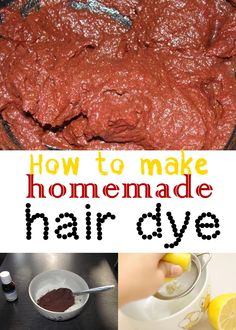 How to make homemade hair dye