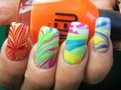 ▶ UNHAS DECORADAS DE AGUA; Diseños de uñas de Agua Tutorial - YouTube