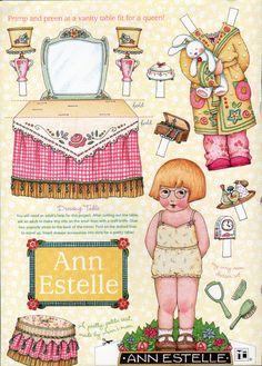 Ann Estelle paper doll - Mary Englebright