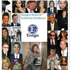Celebs on Kangen Water.. The Next Mega Trend is Here.. :) Get yours today! Mention Pinterest for $200 OFF Call Kamila at 516-790-5407
