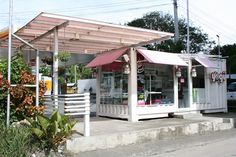 Shipping Container Shops | Yogu Shipping Container Coffee Shop, Banilad,Cebu,Philippines