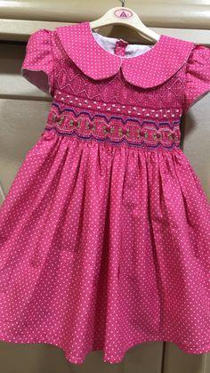 Baby Dress Design, Baby Girl Dress Patterns, Little Girl Dresses, Girls Dresses, Smocked Baby Clothes, Smocks, Sewing Kids Clothes, Frocks For Girls, Sweet Dress