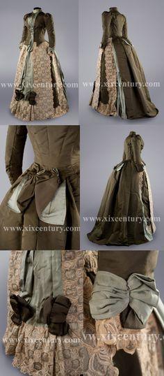 Dress 1880s http://www.xixcentury.com/English_museum_costumes.html