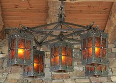 Morris L Hallowell IV rustic lighting
