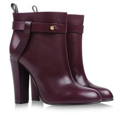 Sergio Rossi Oxblood Ankle Boots
