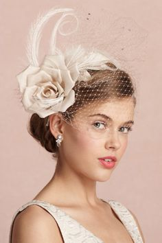 wedding headpieces | This headband is a perfect substitute for a birdcage veil.