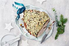 Joulukinkku AURA kuorrutuksella Cake, Desserts, Food, Tailgate Desserts, Deserts, Food Cakes, Eten, Cakes, Postres