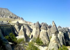 """Göreme, located among the """"fairy chimney"""" rock formations, is a town inCappadocia, a historical region of Turkey. It is in the Nevşehir Province in Central Anatolia and has a population of around 2,500 people."""
