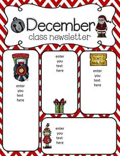 Free December Newsletter Template! … | Pinteres…