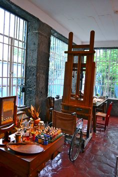 Frida Kahlo and Diego Rivera's studio - Coyoacan, Mexico.