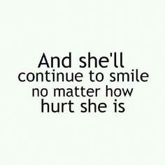 No matter how hurt