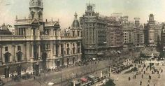 Plaza del Ayuntamiento, 1950 c.a. Colección de Andrés Giménez. 2013-Ángel M.