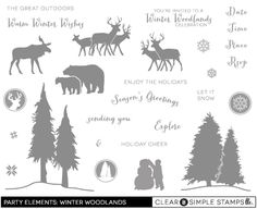 Party Elements: Winter Woodlands