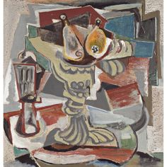 Emil Filla (1882-1953), STILL LIFE WITH PLATE,  oil on canvas, 47 x 48.5cm