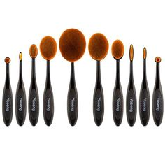 · New fashionable toothbrush shape makeup brush with elegant color design,high quality synthetic hair provides superb ability to hold powder,liquid and creams etc. · Universal brushes set that they cover all needs of application,such as foundations, contouring the forehead and cheekbones, concealer, eyeshadow, sculpting eyebrows, lips.   eBay!
