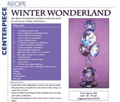 Winter Wonderland — A winter-themed centerpiece for your holiday party.