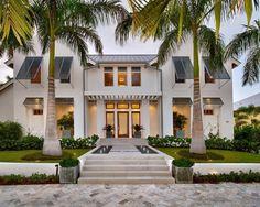 beach style exterior palm trees modern house bahama shutters ideas