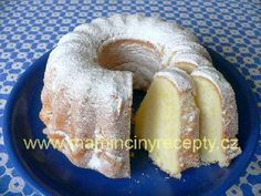 Písková bábovka Doughnut, Sweet Recipes, Food And Drink, Baking, Bakken, Backen, Sweets, Pastries, Roast