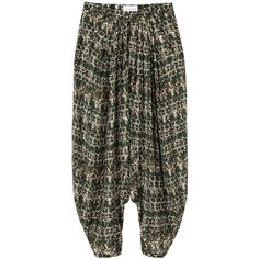 Christian Wijnants Paloma Pant ($244) ❤ liked on Polyvore featuring pants, bottoms, trousers, harem pants, relaxed fit pants, drop crotch harem pants, drop crotch trousers, relaxed pants and harem trousers