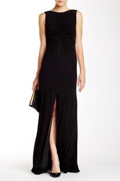 Back V-Neck Beaded Gown