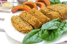 Polpettone di lenticchie, miglio e zucca