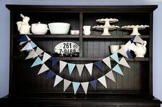 Guirlande fanion, Pennant bannière, Photo Backdrop bleu fanion bannière, bannière drapeau bleu, guirlande fanion, Baby Boy Pennant