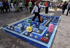 Pac-Man Comes Alive in Stunning 3D Street Art [PICS]