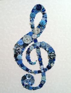 Treble Clef Buttons Art..