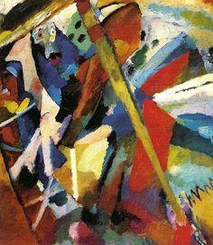 Vasilij Vasil'evič Kandinskij, San Giorgio II, 1911, Lenbachhaus di Monaco di Baviera