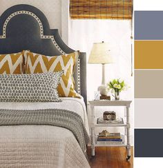 Found this in Coastal Living and DIED. This is 100% my dream bedroom, so in love with it and can't stop thinking about it haha! I used Photoshop to pull colors from the pic for a palette.