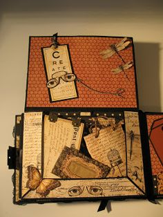 annes papercreations: Graphic 45 Olde Curiosity Shoppe mini album - tutorial