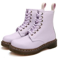 Pastel Lace Up Boots - Cute Outfits Leather Lace Up Boots, Lace Up Shoes, Me Too Shoes, Laced Boots, Real Leather, Galaxy Converse, Grunge Style, Soft Grunge, Pastel Shoes