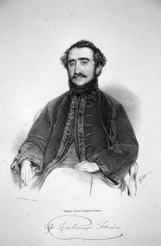Count István Széchenyi, Lithography by Franz Eybl, 1842