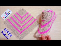 Super easy women booties knitting basics: Super easy two skewers women booties Super easy boot booties model making / Booties Knitting Basics, Easy Knitting, Knitting Socks, Knitting Projects, Crochet Projects, Knitting Patterns, Crochet Patterns, Knitted Booties, Knitted Slippers