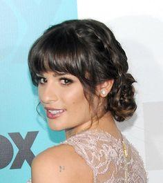 Lea Michele's Braided Updo