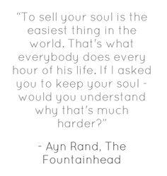 I'm writing an essay over Ayn Rand's the Fountainhead?