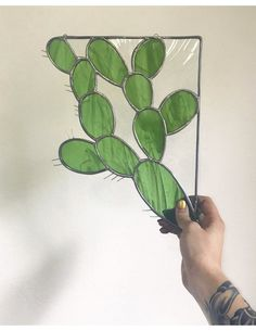 Gold Fever Glass. Cactus corner piece, $125 #StainedGlassCactus